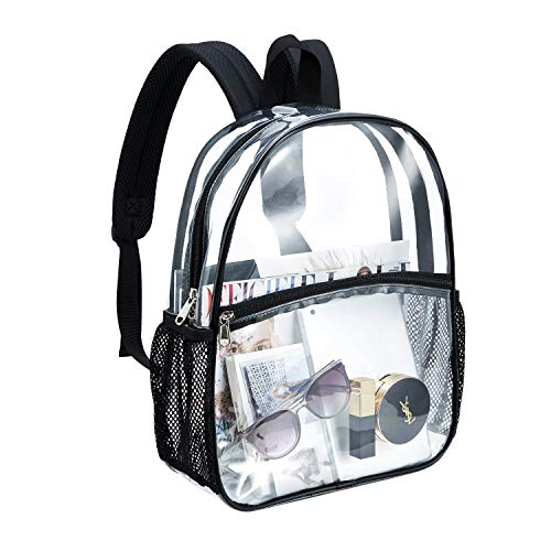 Clear backpack heavy duty school Daypack see through transparent waterproof for stadium colleges sport event work concert by boys girls women men