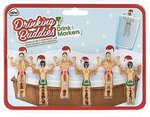 NPW Drinking Buddies Markers Christmas
