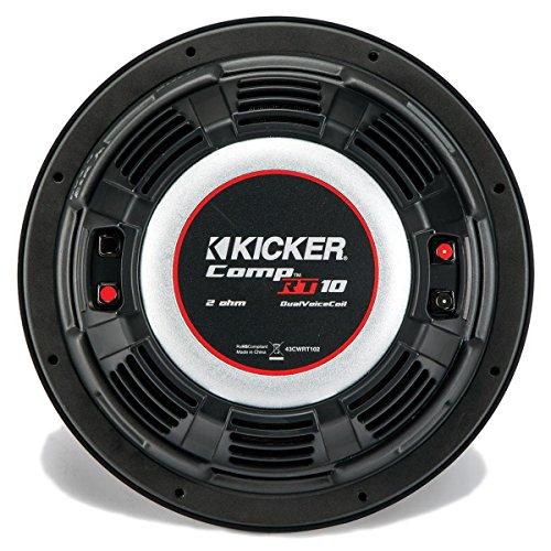 Kicker CompRT 10″ 1-Ohm Subwoofer