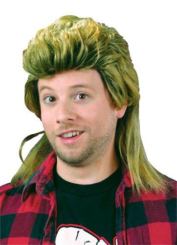 Fun World Men's Mullet Wig, yellow -