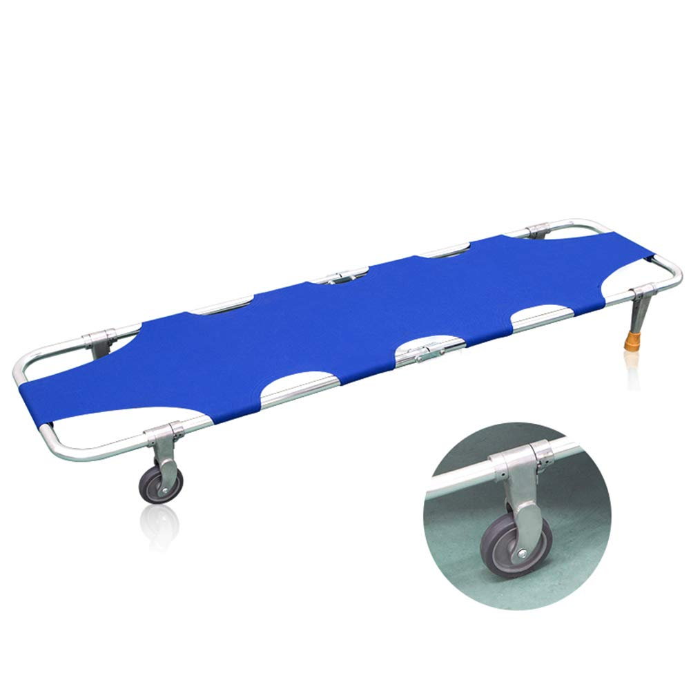XRX Emergency Rescue Flat Foldaway Portable Stretcher with Wheels for Hospital,Clinic,Home,Sports venues,Ambulance Weight Capacity 350 lb (1)