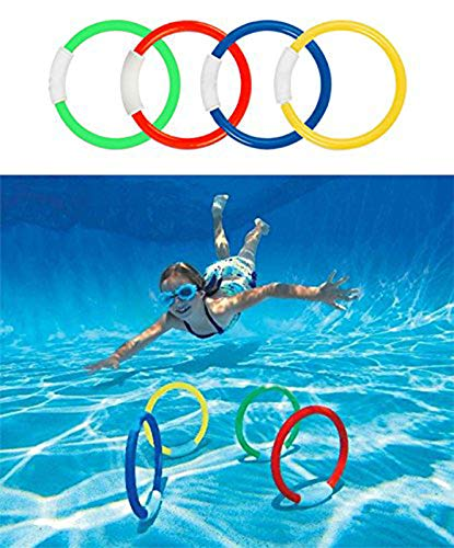 Raise Toy Deluxe Underwater Swimming/Diving Pool Toy Rings(4Pcs),Diving Sticks(3Pcs), Bandits(4Pcs),Aquatic(3Pcs),Under Water Treasures (12Pcs) with Waterproof Storage Bag - Pack of 26 by Raise Toy (Image #1)