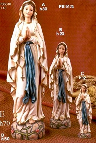 Immagini Statue Sacre Madonna Di Lourdes h 40 cm In Resina Paben