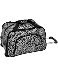 Amelia Earhart Luggage Safari 360 Collection Wheeled Club Bag, Silver/Black Jacquard, One Size