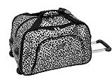 Amelia Earhart Luggage Safari 360 Collection Wheeled Club Bag, Silver/Black Jacquard, One Size