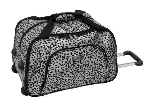 Amelia Earhart Luggage Safari 360 Collection Wheeled Club Bag, Silver/Black Jacquard, One (Amelia Earhart Luggage)