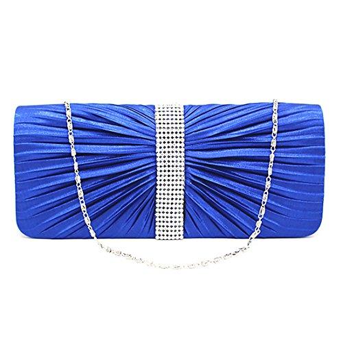YYW Evening Bag - Cartera de mano para mujer Azul