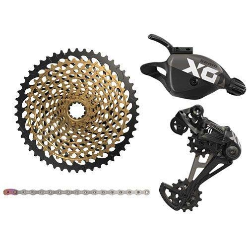 SRAM X01 Eagle 12 Speed Groupset, Trigger Shifter w/XG-1299 Cassette, Black #SY2988-self   B07MSGHM5Z