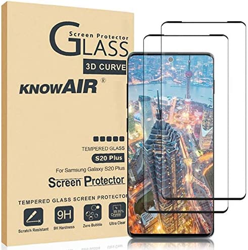Galaxy S20 Plus Screen Protector,Full Coverage Tempered Glass[2 Pack][9H Hardness][Designed for Ultrasonic Fingerprint] Tempered Glass Screen Protector Suitable for Galaxy S20 Plus