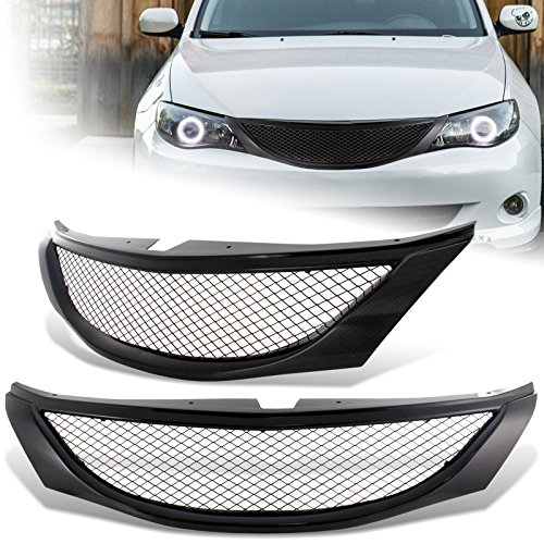 For 2008-2010 Subaru Impreza WRX JDM Front Hood Carbon Style Mesh Grille ()