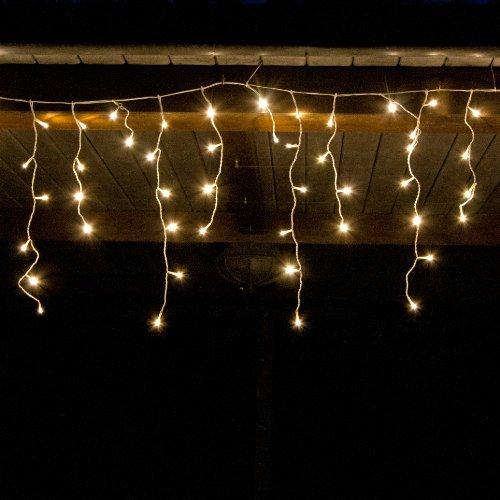 Luci Natale Esterno.960 Led 24m Tenda Luminosa A Cascata Luci Natale Bianco Caldo Interno Esterno