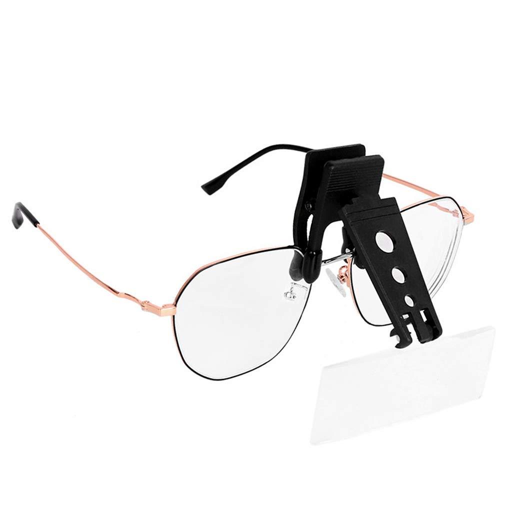Amazon.com: Lupa con clip de 1,5 x 2,5 x 3,5 x con 3 lentes ...