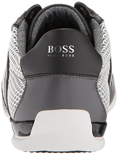 Hugo Boss Boss Green Van Mens Space Low Profile Mix Materialen Sneaker Medium Grijs