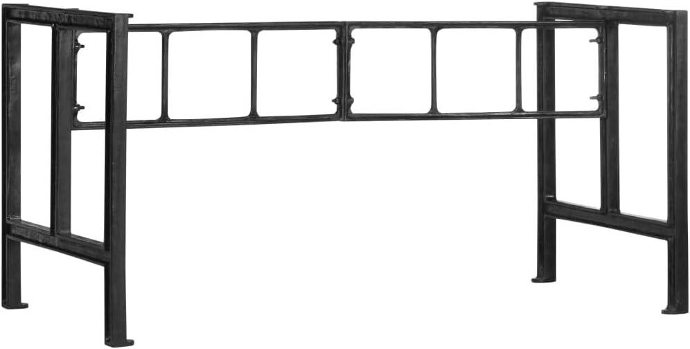 Tidyard Patas de Mesa de Comedor de Hierro Fundido 150x68x73 cm,para Eden Garden Bench - Banco Arcón Exterior