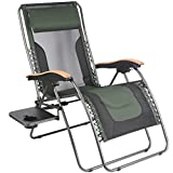 PORTAL Oversize Zero Gravity Recliner Chairs with Pillow and Cup Holder, Patio Lounger Chairs , Supported 350lbs