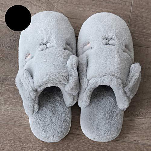 Td dérapant Femme Gray Pantoufles Air Garder Fond Maison Plein Intérieur Chaud Ballon Coton Automne La En D'hiver De Femelle Chaussures Épais Enceinte Et À Non Belle Boule Au ZrqZpwAH4
