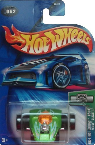 Mattel Hot Wheels 2004 First Editions 1:64 Scale Green Fatbax Silhouette Die Cast Car #062 by ()
