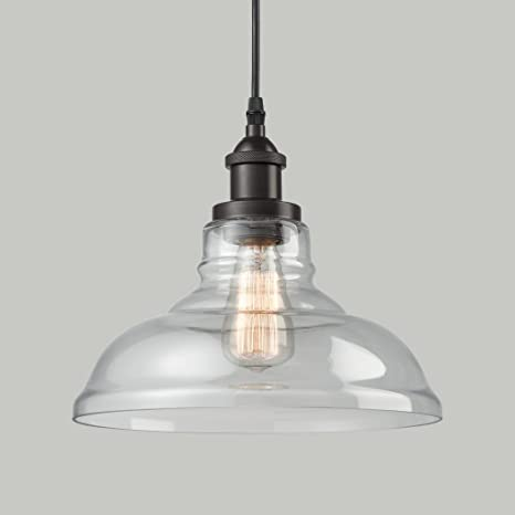 claxy ecopower industrial edison vintage style 1 light oil rubbed bronze pendant glass hanging - Oil Rubbed Bronze Pendant Light