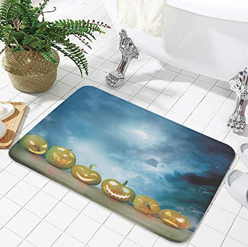 YOLIYANA Bath Mat,Halloween,for Dining Room Bathroom Office,23.62