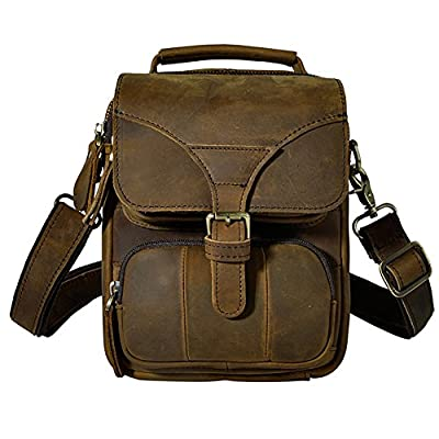 d8e81c7179 cheap Genda 2Archer Mens Small Leather Shoulder Satchel Bag Waist Pack