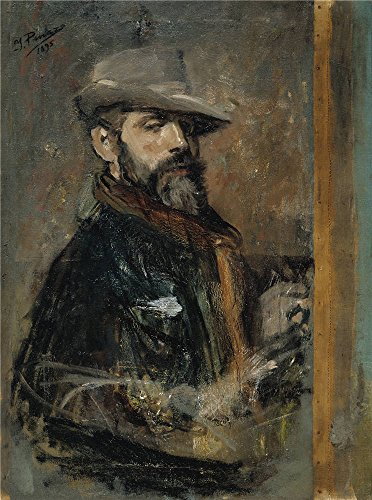 Oil painting 'Pinazo Camarlench Ignacio Self Portrait Painting (Young Man with a Hat) 1895 ' printing on Perfect effect canvas , 8 x 11 inch / 20 x 27 cm ,the best Study decor and Home gallery art and Gifts is this Vivid Art Decorative Prints on Canvas