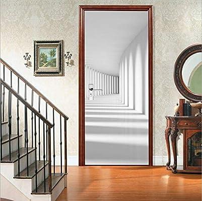 Pegatinas de Puertas en 3D Arte de Pintura Mural, galería de Luces ...
