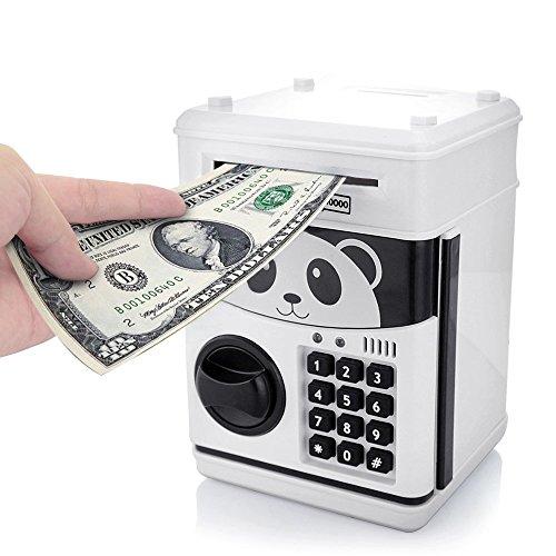 Cartoon Piggy Bank Cash Coin Can Password Electronic Money Bank Safe Saving Box ATM Bank Safe Locks Panda Smart Voice Prompt Money Piggy Box for Children/ Christmas Gift