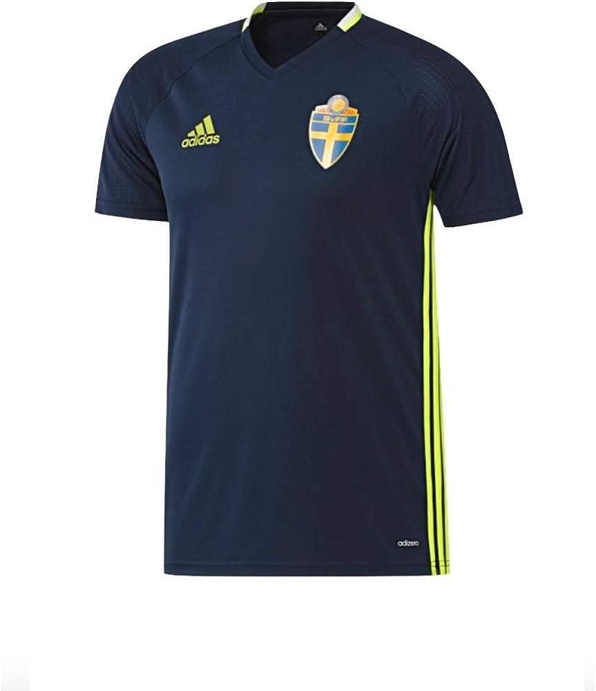 adidas Suecia Entrenamiento Camiseta Azul Conavy/Syello Talla:Extra-Small: Amazon.es: Ropa y accesorios