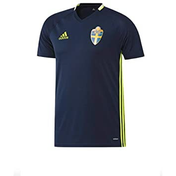 Adidas Suecia Entrenamiento Camiseta Azul Conavy/Syello Talla:Extra-Small
