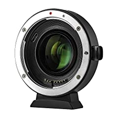 Viltrox EF-EOS M2 mount adapter is designed to allow Canon EF-mount series lenses to be used on interchangeable-lens digital cameras that compatible with EF-M lens. Focal length is multiplied by 0.71 based on the original (equivalent focal le...