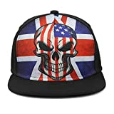 16dc4b0c424 Odelia Walter Skull Flag Flat Bill Snapbacks Mesh Baseball Caps Trucker Hat  (Colorful Flag