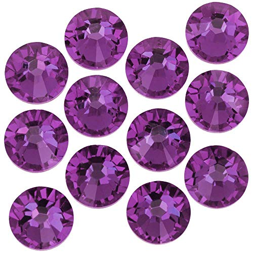 SWAROVSKI ELEMENTS Flatback Crystal Rhinestones #2028 SS9 Amethyst -