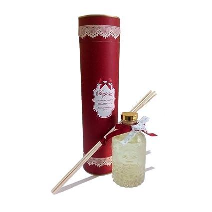 Perfume Ambientador Botella de cristal decorado aroma rosa salvaje, Idea regalo