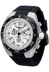 Jorg Gray 9700 Silver/Black Chronograph Watch