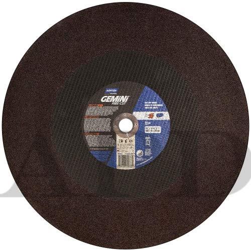 Norton 69078609033 Aluminum Oxide Type 01 Free Cut Cutoff Wheel, 20'', 3/16'', 1'', 2710 RPM (Pack of 5)
