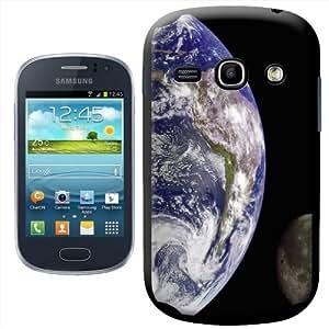 Fancy A Snuggle - Carcasa rígida para Samsung Galaxy Fame S6810, diseño de la Tierra y la Luna