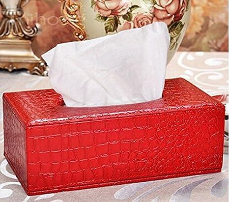 Fendii PU Cuir de Grande qualité Hôtel de Voiture Boîte à mouchoirs, PU, Red, Taille Unique