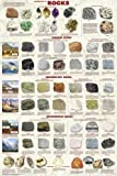 Laminated Introduction To Rocks Educational Poster Igneous Metamorphic Sedimentary 24x36