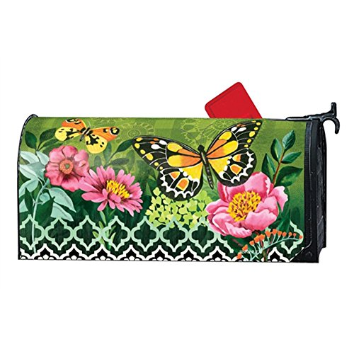 Magnet Works MailWrap - Butterflies with Pink Flowers by MagnetWorks