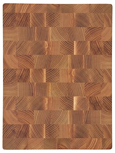 COZY Ash-Tree End Grain Cutting Board 16 by 12 by 1,5-inch Chef's Board Chopping Block (16