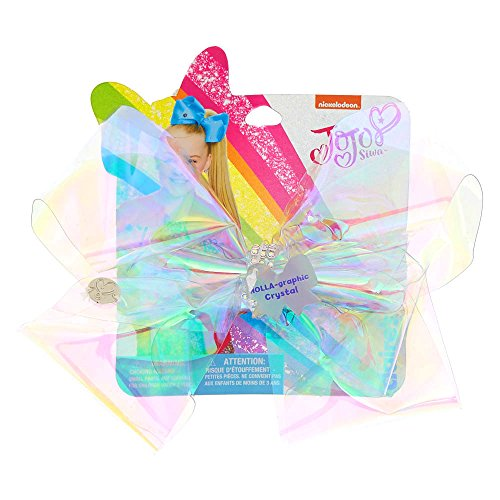 Claire's Girl's JoJo Siwa Large HOLA-graphic Crystal Signature Hair Bow - Iridescent Bow