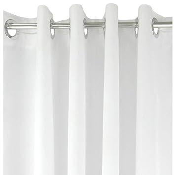 Duschvorhang Weiß Gewichtet Mit Ösen LeHom Duschvorhang Badewanne Waschbar  Wasserdicht Duschvorhang Textil 180x200 Cm