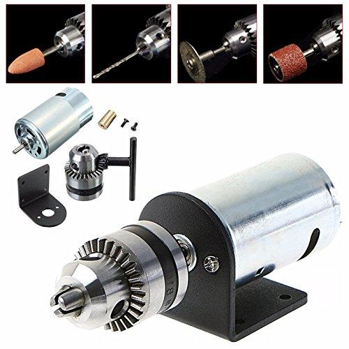 LIPOVOLT Mini Hand Drill DIY Lathe Press 555 Motor w/ 1/8