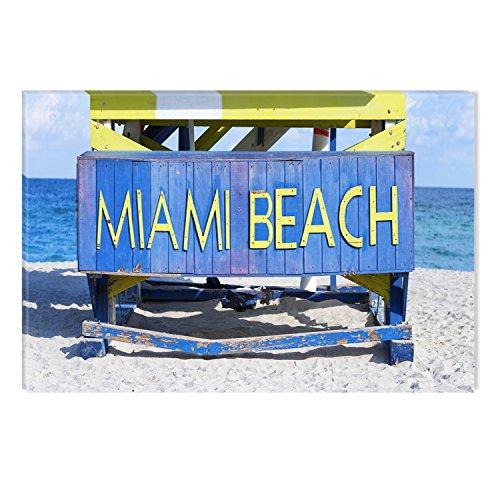 STARTONIGHT Canvas Wall Art Miami Beach Florida USA, Dual Vi