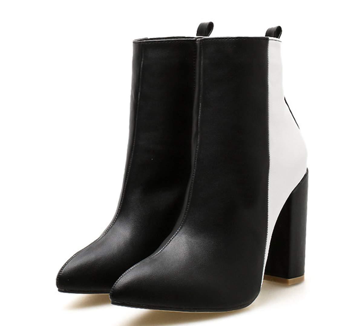 HBDLH Damenschuhe Mode Kurze Stiefel High 11Cm Wirkung Das Raue Spitze Nackt - Stiefel.