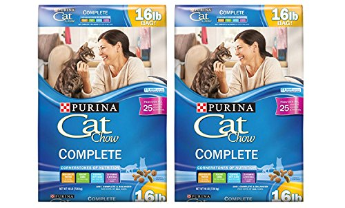 Purina Cat Chow Complete Dry 16 Lbs Cat Food  Pack Of 2  Includes The Ulti Pro Enhanced Protein System   Great Taste Encourages Consistent Eating
