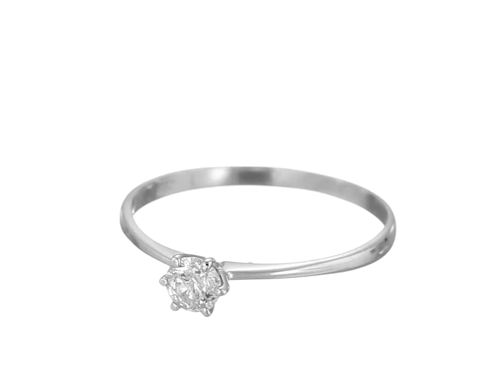 1/5-1/3 ct IGI Certified Diamond Engagement Ring in 14K White Gold (1/5 - 1/3 ct, L-M Color, I1-I2 Clarity)