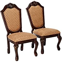 ACME Furniture 64077 Chateau de Ville Espresso Side Chair (Set of 2)