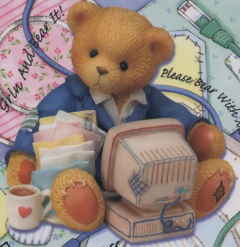 cherished-teddies-computer-set-terry-the-computer-bear-with-mouse-pad-and-screen-saver