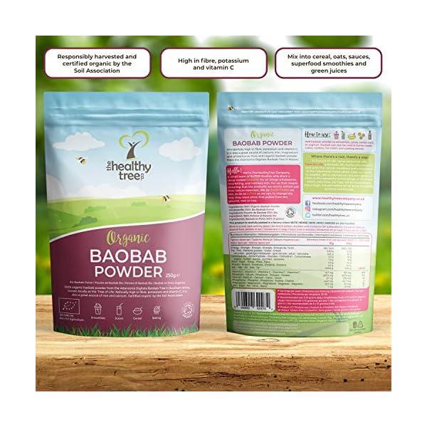 Polvere di Baobab Bio di TheHealthyTree Company per Frullati e Succhi Vegan - Alto Contenuto di Vitamina C, Fibre e… 4 spesavip